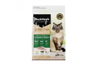 Black Hawk Feline Grain Free Chicken Turkey 2-5kg