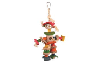 Kazoo Bird Toy Man With Sisal Rope and Chips