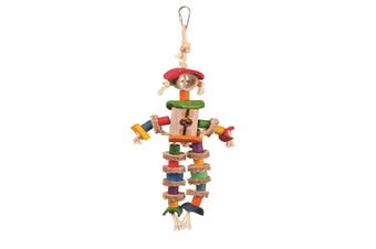Kazoo Bird Toy Man With Sisal Rope ex-large