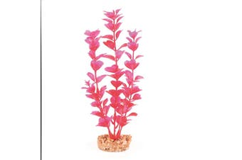 Kazoo Plastic Plant Medium Leaf Pink Purple Small