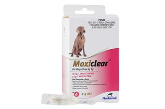 Moxiclear Pink for Extra Large Dogs over 25kg 6p