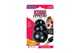 KONG Medium Extreme Rubber Black Dog for Tough Chewing Pets