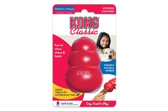KONG Medium Classic Red Rubber Dog Toy for Tough Chewing Pets