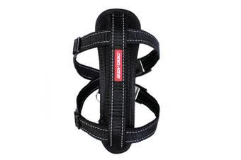 Ezydog Medium Black Chest Plate Dog Harness (45cm to 73cm) Ezy Dog