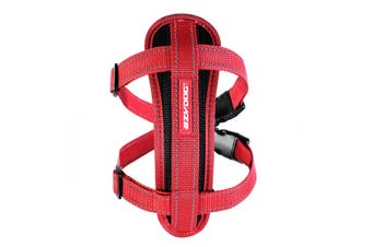 Ezydog Large Red Chest Plate Dog Harness (49cm to 84cm) Ezy Dog