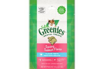 Greenies 60g Feline Savoury Salmon Flavour Dental Treats for Cats