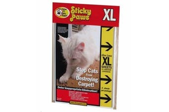 Cat Scratch Deterrent Furniture Strips - 5 Sheets - 30x22.5cm (Sticky Paws)