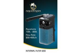 Internal Aquarium Filter 200 for Fish Tanks Up To 200L (Aquatopia)