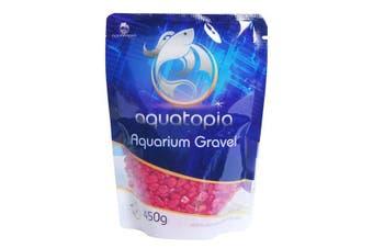 Aquarium Coloured Gravel for Fish Tanks - 450g - Red (Aquatopia)