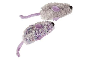 KONG Catnip Refillable Two Mice Cat Toy