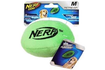 Retriever Plush Soft Football Dog Toy - Green - Medium 12cm (NERF)