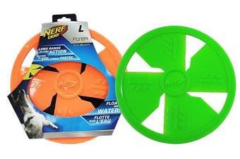 Rubber Dog Flyer Frisbee - Orange - Large 25cm (NERF)