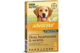 Advocate for Dogs over 25 kgs - 6 Pack - Blue - Flea & Heartworm Control (Bayer)
