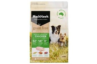 Black Hawk Grain Free 2.5kg Chicken Flavour Dog Food - Adult All Breed