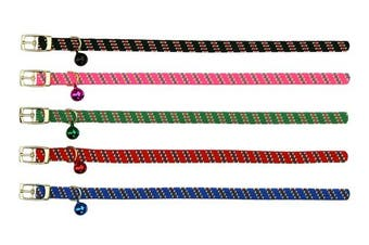 Beau Pets Green Safety Elastic Dot Cat Collar