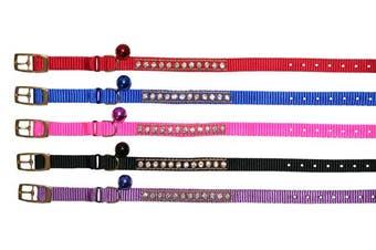 Beau Pets Pink Nylon Jewel Safety Cat Collar