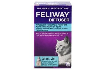 Feliway Refill for the Pheromone Diffuser for Cats - Calming & Anxiety Spray