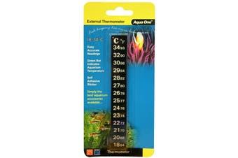 Aqua One Digital Stick On Thermometer for Aquariums Fish Tanks