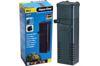 Aqua One Mini 301F Aquarium Internal Filter for Fish Tanks up to 15 Litres