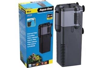 Aqua One Mini 302F Aquarium Internal Filter for Fish Tanks up to 25 Litres