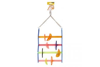Avi One Parrot Toy Acrylic Ladder with Beads