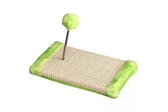 Cat Scratching Base with Spring Ball - 30x15x15cm (Green) (Pet One)
