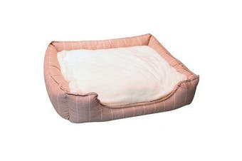 Pet One Large Squares Rose Pink Rectangular Soft Pet Bed Dog & Cat 75x65x18.5cm