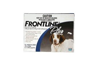Frontline Plus for Medium Dogs 10-20 kgs - 6 Pack - Blue - Flea & Tick Control