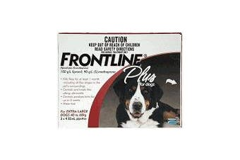Frontline Plus for Extra Large Dogs 40-60 kgs - 6 Pack - Red - Flea & Tick Contr