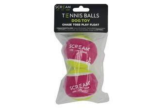Tennis Ball 2 Pack for Scream Ball Launcher (Green & Pink)