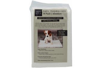 Puppy Dog Training Toilet Pads Zeez 14 Pack - 60 x 60cm