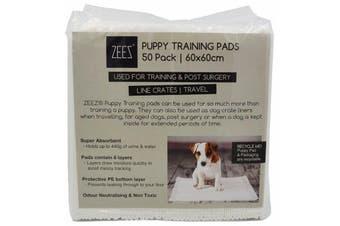 Puppy Dog Training Toilet Pads Zeez 50 Pack - 60 x 60cm