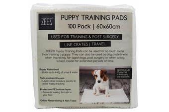 Puppy Dog Training Toilet Pads Zeez 100 Pack - 60 x 60cm