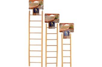7 Step Natural Wood Bird Ladder Toy