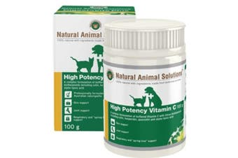 NAS High Potency Vitamin C for Dogs, Cats & Horses (100 Gram) Pet Supplement