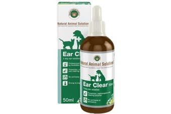NAS Ear Clear for Dogs & Cats (50ml) Natural Animal Solutions Ear Drops Pets