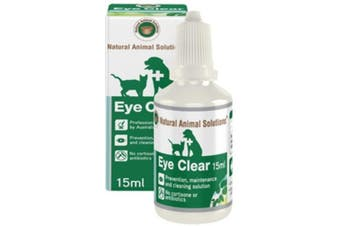NAS Eye Clear for Dogs, Cats, Horses & Livestock (15ml) Natural Animal Solution