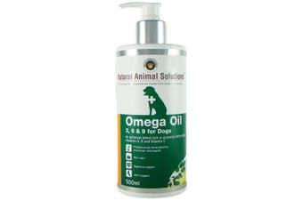 NAS Omega 3, 6 & 9 Oil for Dogs (500ml) Natural Animal Solutions Supplement