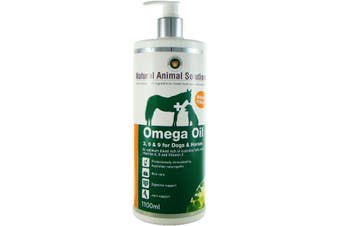 NAS Omega 3, 6 & 9 Oil for Dogs & Horses (1.1 Litres) Natural Animal Solutions