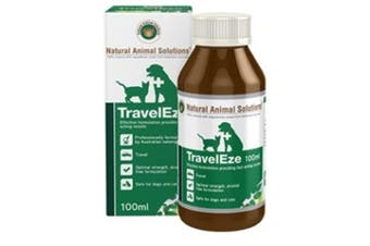 NAS TravelEze for Dogs & Cats (100ml) Natural Animal Solutions Pet Car Anxiety