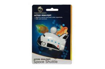 Space Shuttle Action Air Connect Fish Tank Aquarium Ornament (Aquatopia)