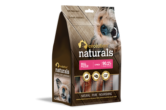Bull Pizzle 5 Pack Dog & Puppy Treats by Evolution Naturals