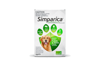 Simparica 20.1-4kg Large Dog 3's (Green)