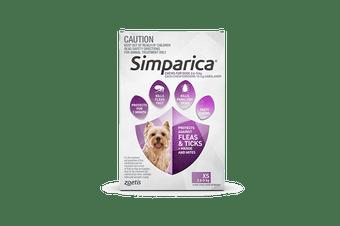 Simparica 2.6-5kg Extra Small Dog 3's (Purple)