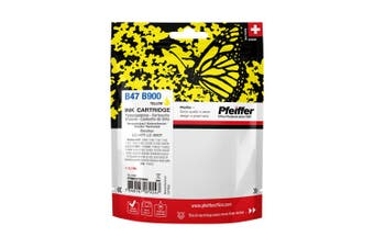 Pfeiffer Printer Cartridge, compatible with Brother LC-900Y / LC-47Y Yellow (remanufactured), PFIB047YR