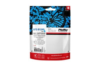 Pfeiffer Printer Cartridge, compatible with Brother LC-1240C / LC-73C Cyan (remanufactured), PFIB073CR