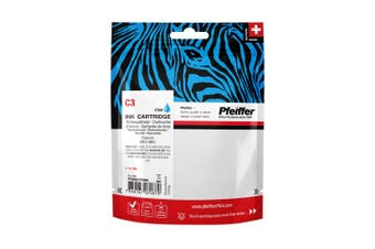 Pfeiffer Printer Cartridge, compatible with Canon BCI-3EC Cyan (remanufactured) , PFIC003CR