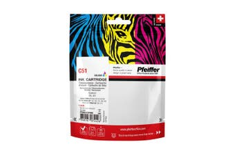 Pfeiffer Printer Cartridge, compatible with Canon CL-51 Colour (remanufactured), PFIC051TR