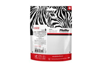 Pfeiffer Printer Cartridge, compatible with Canon PG-512 Black (remanufactured), PFIC512BR