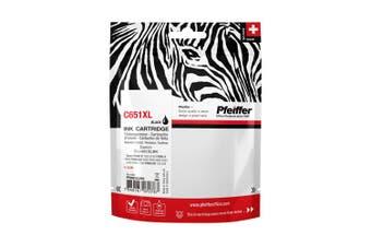 Pfeiffer Printer Cartridge, compatible with Canon CLI-651XLBK Black, PFIC651XB